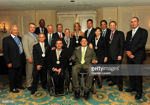 Astronaut Buzz Aldrin, honoree Brett Hull, honoree Clyde Drexler, Founder of The Miami Project and The Buoniconti Fund to Cure Paralysis Nick...