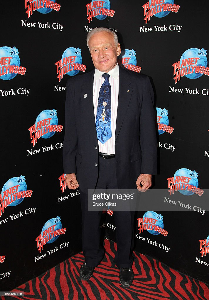 Astronaut Buzz Aldrin promotes his book 'Mission to Mars: My Vision for Space Exploration' at Planet Hollywood Times Square on May 9, 2013 in New York City.