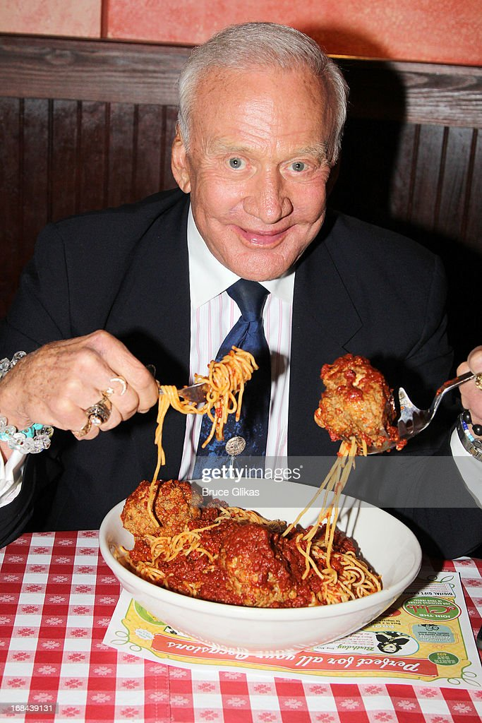 Buzz Aldrin Visits Planet Hollywood And Buca Di Beppo Times Square