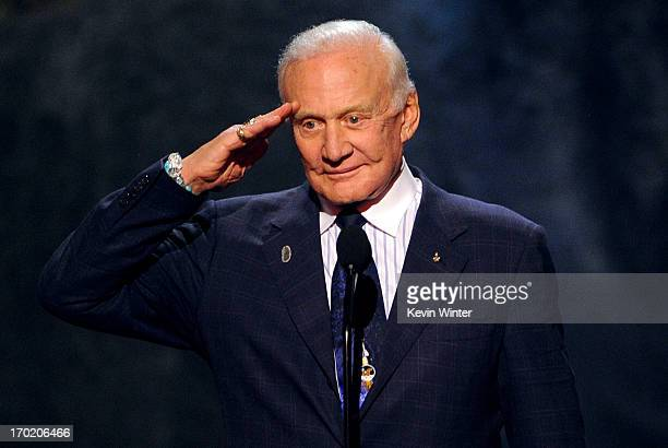 Astronaut Buzz Aldrin speaks onstage during Spike TV's Guys Choice 2013 at Sony Pictures Studios on June 8 2013 in Culver City California