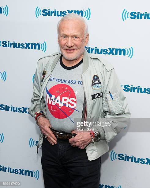 Astronaut Buzz Aldrin visits the SiriusXM Studios on April 6 2016 in New York City