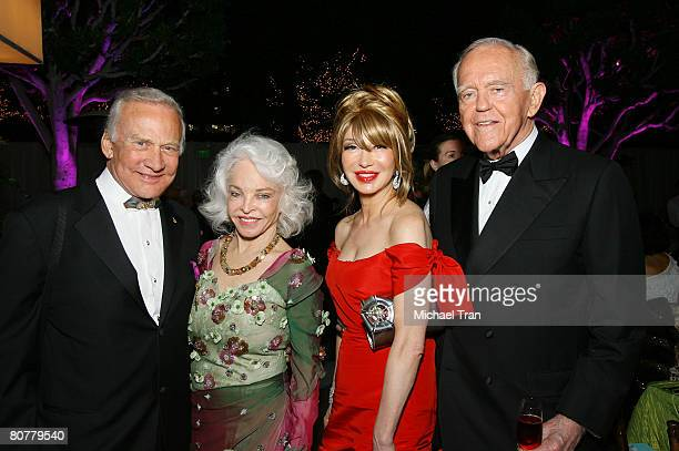 Astronaut Buzz Aldrin wife Lois Aldrin Elizabeth Segerstrom and Henry Segerstrom attends the 40th Anniversary Gala honoring Placido Domingo presented...