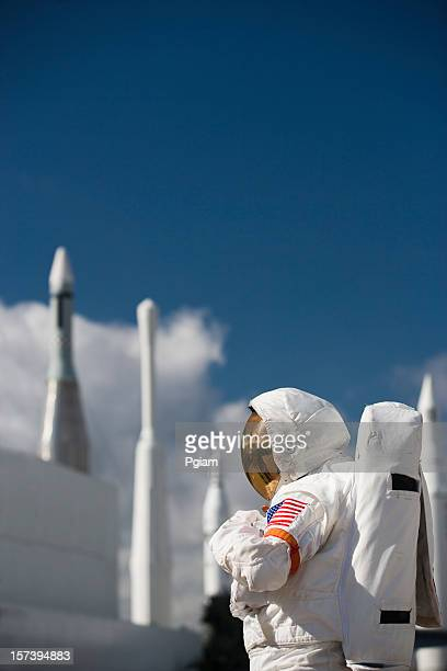 astronaut by rockets - nasa stock pictures, royalty-free photos & images