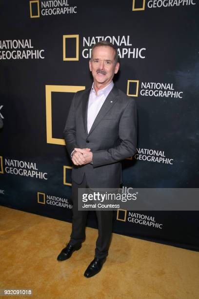 """Astronaut Chris Hadfield attends National Geographic's world premiere screening of """"One Strange Rock"""" on Wednesday March 14 2018 in New York City..."""
