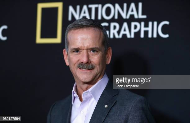 Astronaut Chris Hadfield attends One Strange Rock World Premiere at Alice Tully Hall on March 14 2018 in New York City