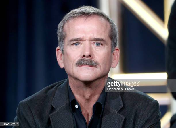 Astronaut Chris Hadfield of 'One Strange Rock' speaks onstage during the National Geographic Channels portion of the 2018 Winter Television Critics...