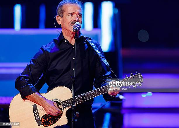 Astronaut Chris Hadfield performs onstage during 'WE Day Vancouver' at Rogers Arena on October 21 2015 in Vancouver Canada