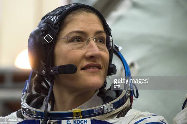 NASA astronaut Christina Hammock Koch a member of the International Space Station expedition 59/60 attends her final exam at the Gagarin Cosmonauts'...