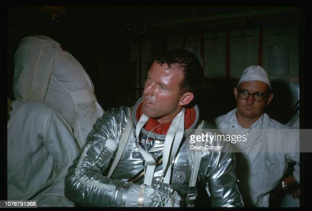 Astronaut Cooper After Flight Simulation
