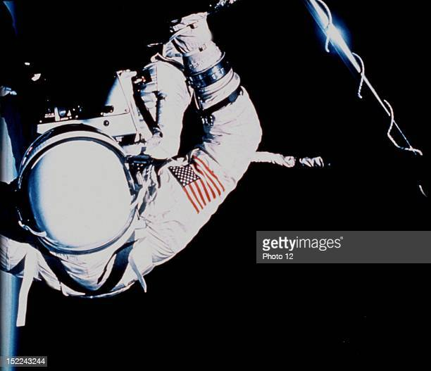 Astronaut Edwin Aldrin during Extravehicular Activity November 1115 1966