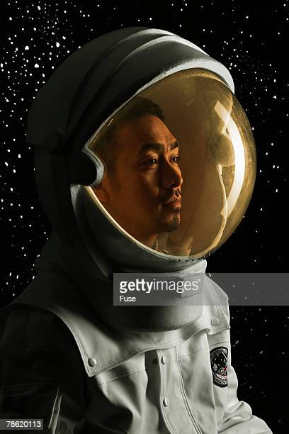 Astronaut in Space Helmet