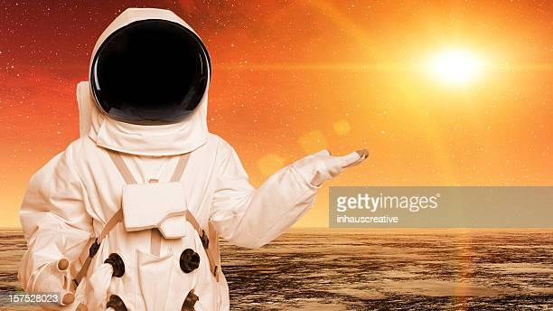 Astronaut In Space On Alien Planet