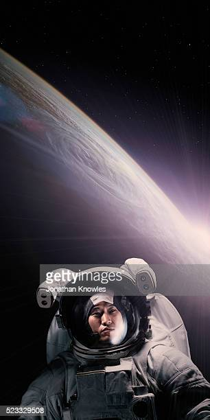 astronaut in space - space helmet stock pictures, royalty-free photos & images