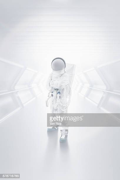 Astronaut in tunnel