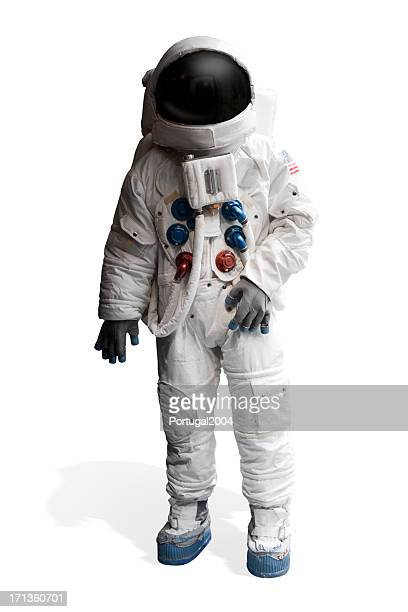 Astronaut isolated in white background.