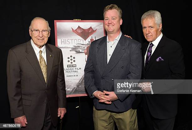 Astronaut Jim Lovell TCM Director of Program Production Studio Production Programming Scott McGee and TV personality Alex Trebek attend the screening...