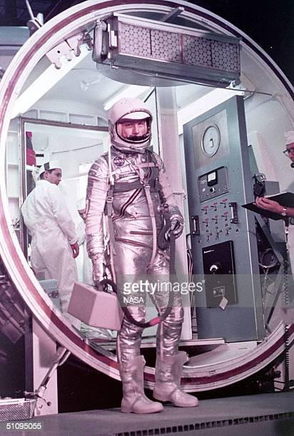 Astronaut John Glenn Prepares To Enter The Mercury Launch Vehicle February 20 1962 At Cape Canaveral Fl