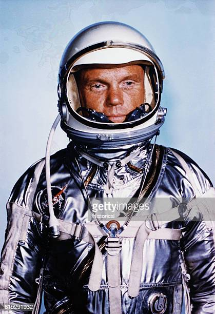 Astronaut John H Gelnn Jr a Marine Lt Colonel was selected as primary mission pilot for America's manned orbital flight schedualed for late 1961 or...