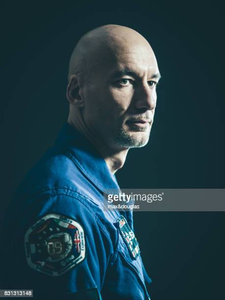 Astronaut Luca Parmitano is photographed for Wired Magazine, on February 23, 2013 in Milan, Italy.