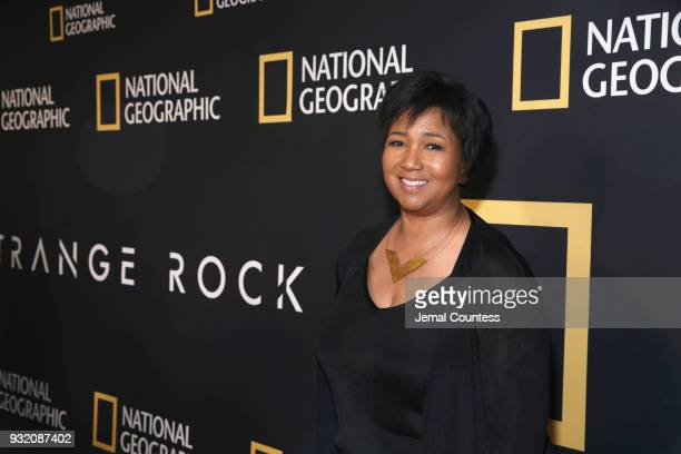 """Astronaut Mae C Jemison attends National Geographic's world premiere screening of """"One Strange Rock"""" on Wednesday March 14 2018 in New York City..."""