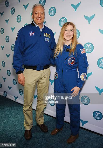 Astronaut Michael J Massimino and Abigail Harrison attend The 7th Annual Shorty Awards on April 20 2015 in New York City