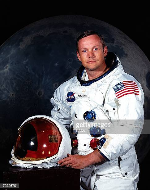 Astronaut Neil A Armstrong poses for a portrait July 1969 Armstrong was the Commander of Apollo 11 Lunar Landing Mission The 30th anniversary of the...