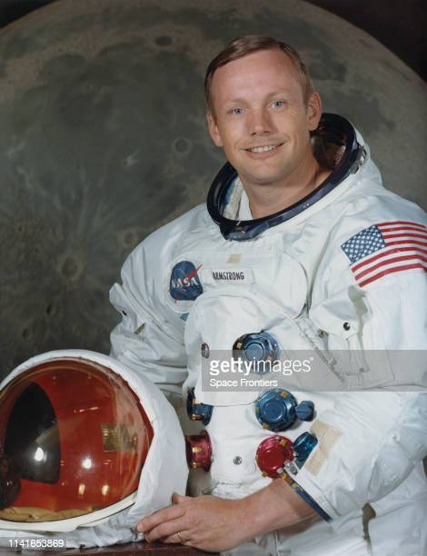Astronaut Neil Armstrong Commander of NASA's Apollo 11 lunar landing mission photographed at the Manned Spacecraft Center in Houston Texas July 1969