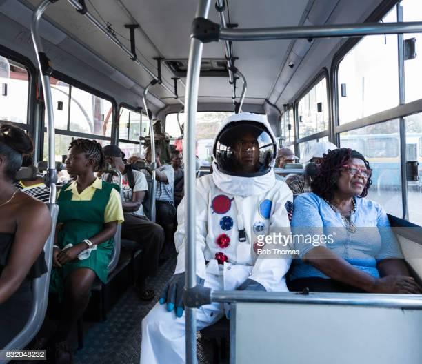 Astronaut On Bus