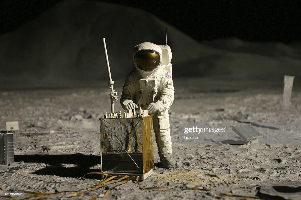 astronaut on the moon : Stock Photo