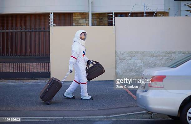 Astronaut on the way home