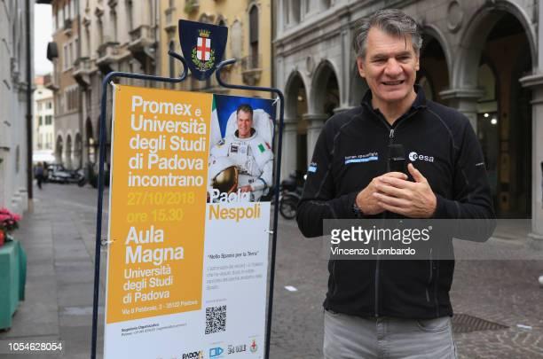 Astronaut Paolo Nespoli attends Open Innovation Days SEAT, Padova, 27 Ottobre 2018 on October 27, 2018 in Padova, Italy.