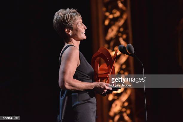 Astronaut Peggy Whitson accepts an award onstage at Glamour's 2017 Women of The Year Awards at Kings Theatre on November 13 2017 in Brooklyn New York