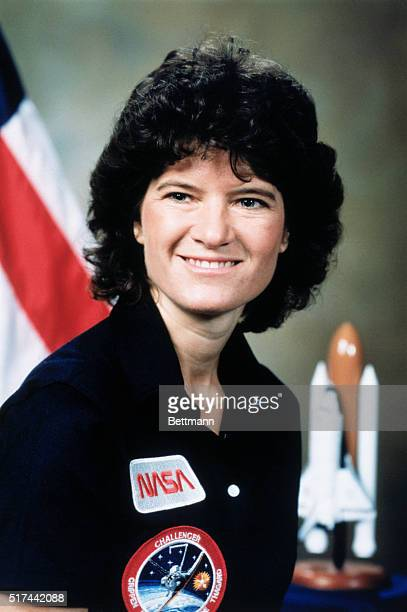 Astronaut Sally Ride before the Challenger Space Shuttle Mission STS 41G her second shuttle flight