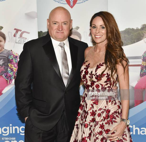 Astronaut Scott Kelly and Amiko Kauderer attend Angel Flight West's Annual Endeavor Awards at California Science Center on May 6 2017 in Los Angeles...