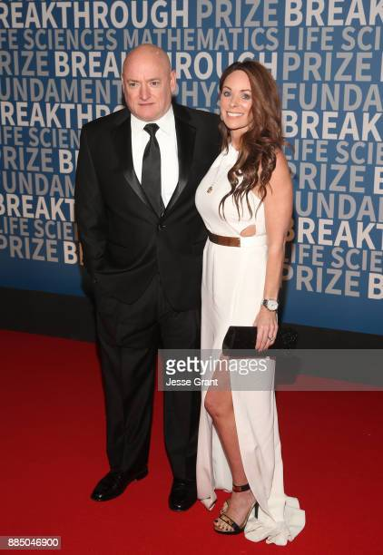 Astronaut Scott Kelly and Amiko Kauderer attend the 2018 Breakthrough Prize at NASA Ames Research Center on December 3 2017 in Mountain View...