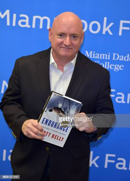 Astronaut Scott Kelly pose for picture before his Conversation with Dr Jorge PerezGallego about Kelly new book ENDURANCE A year in space a life time...