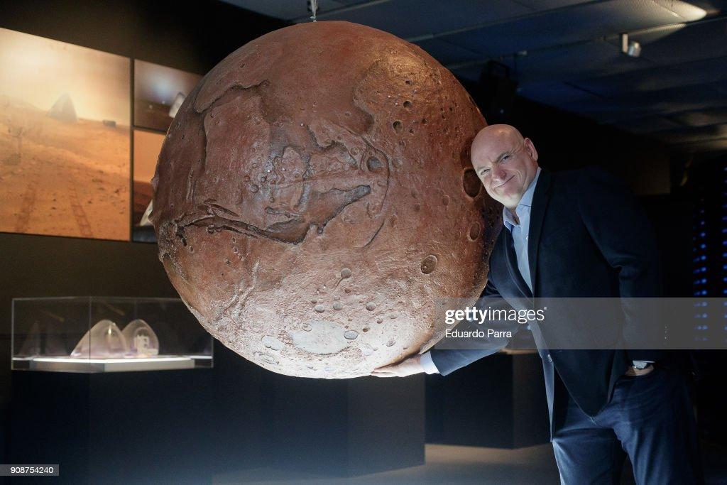 Astronaut Scott Kelly Presents His Book 'Resistencia. Un Ano En El Espacio' in Madrid