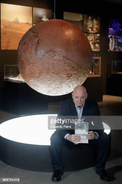 Astronaut Scott Kelly presents his book 'Resistencia Un ano en el Espacio' at Telefonica Foundation on January 22 2018 in Madrid Spain