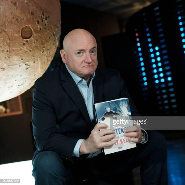 Astronaut Scott Kelly presents the RESISTENCIA book in Espacio Fundación Telefónica de Madrid Spain January 22 2018