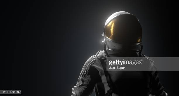 astronaut space black background - international space station stock pictures, royalty-free photos & images