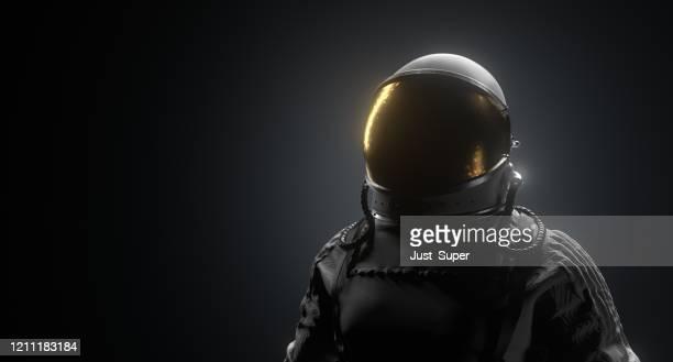 宇宙飛行士スペースブラック背景 - 国際宇宙ステーション ストックフォトと画像