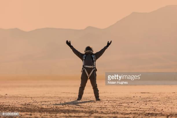 Astronaut standing on Mars
