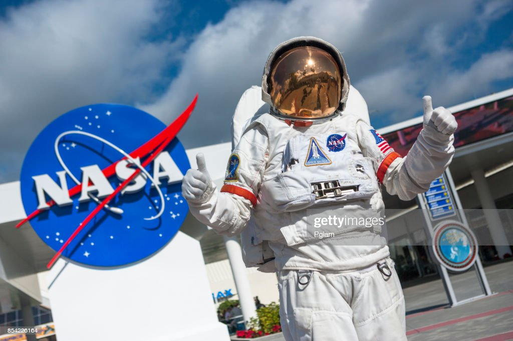 Astronaut suit in Cape Canaveral Florida USA : Stock Photo
