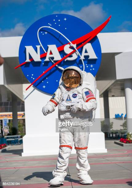 astronaut suit in cape canaveral florida usa - nasa stock pictures, royalty-free photos & images