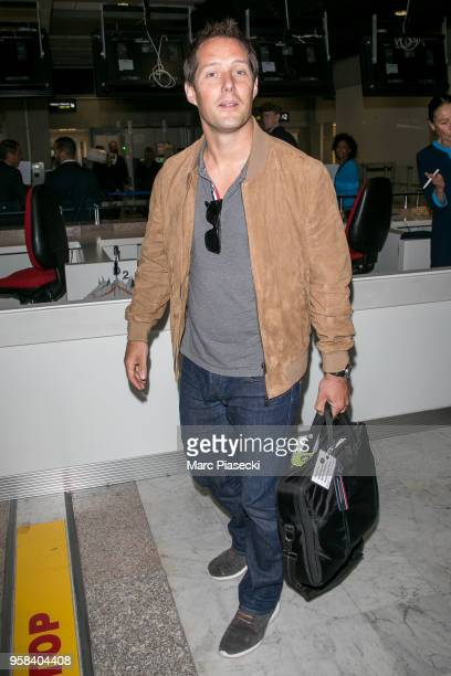 Astronaut Thomas Pesquet is seen during the 71st annual Cannes Film Festival at Nice Airport on May 14 2018 in Nice France