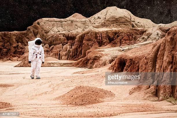 Astronaut Walking On Mars or the Moon