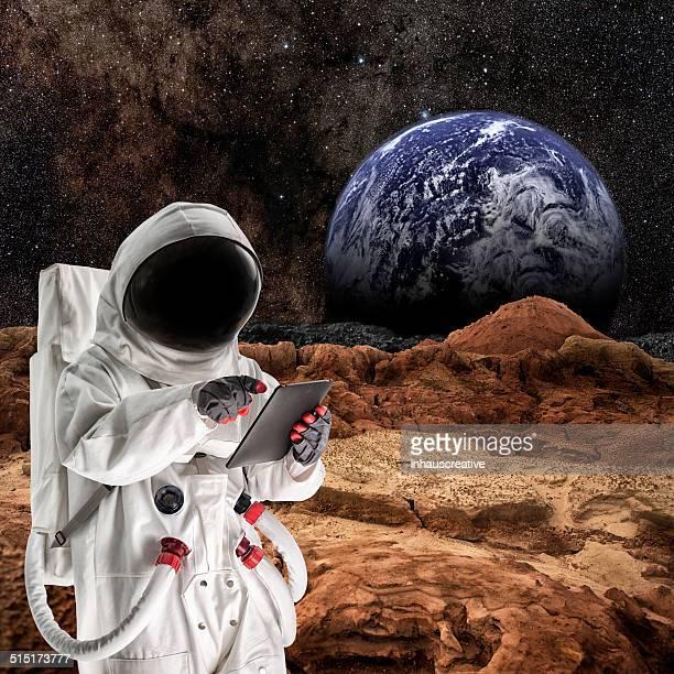 Astronaut Walking On Mars oder the Moon