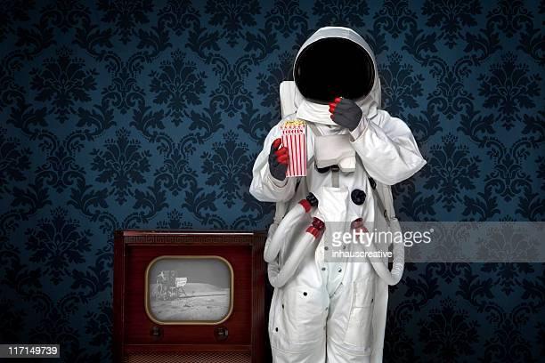 Astronaut Watching Moon Landing