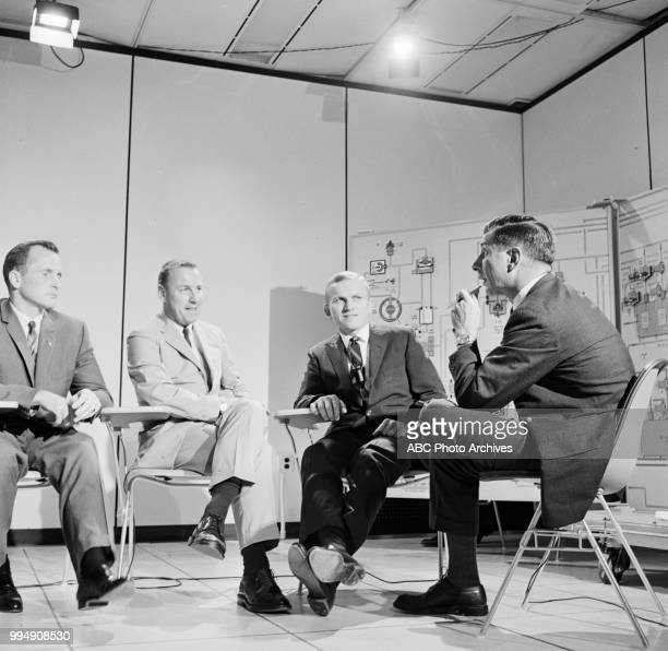 Astronauts Edward White James A Lovell Jr and Frank Borman Jules Bergman on Walt Disney Television via Getty Images's 'Issues and Answers'