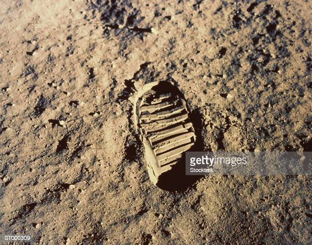Astronaut's footprint on moon